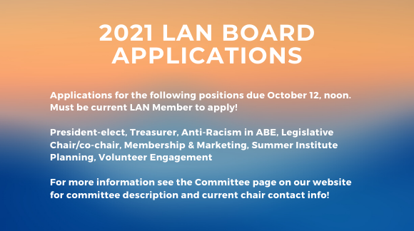 2021 LAN Board Application